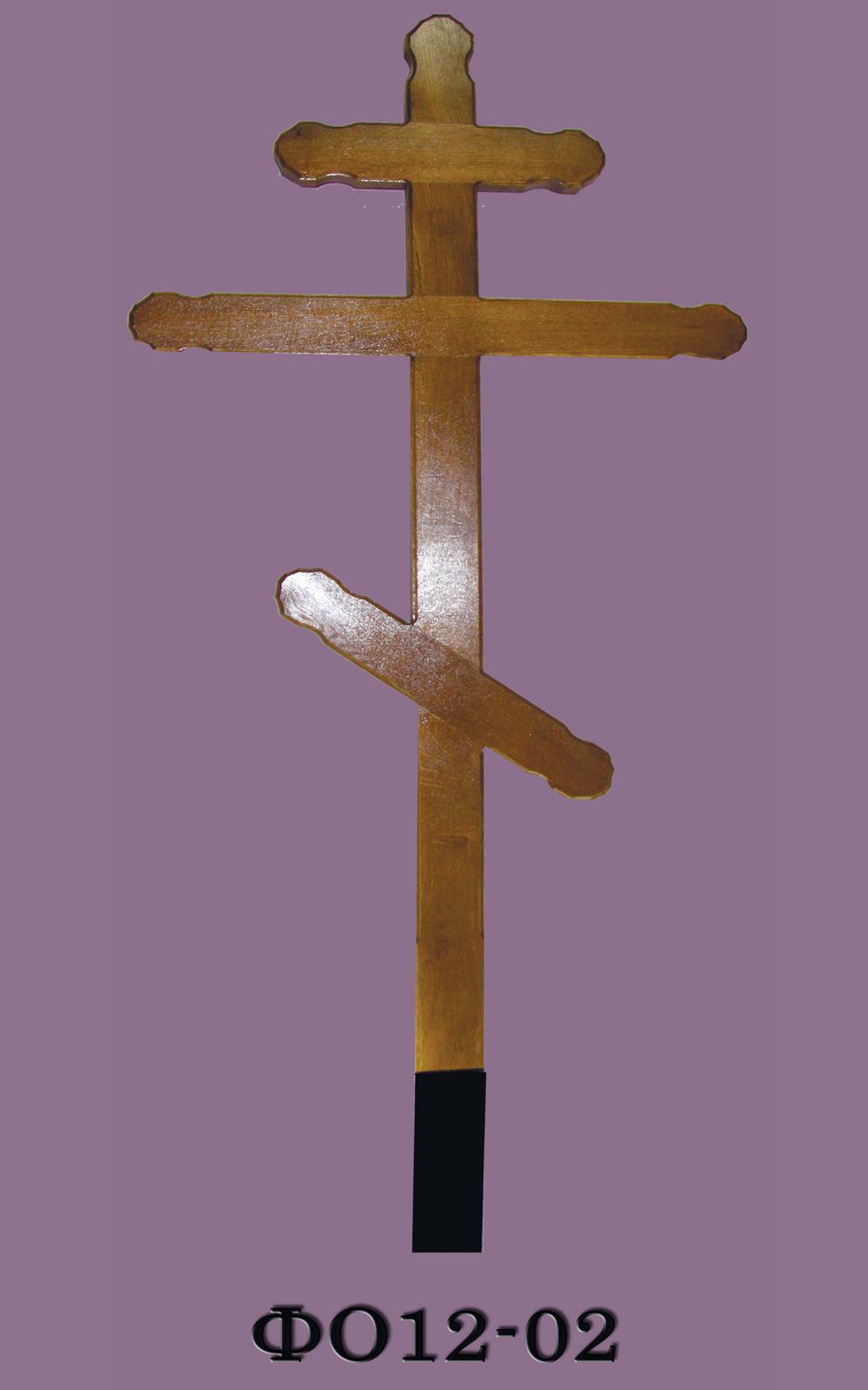 Крест на могилу (деревянный) ФО12-02