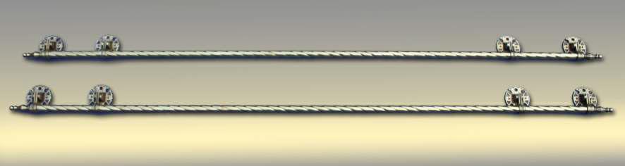 Ручки для гроба (2 длинные ручки бронза)