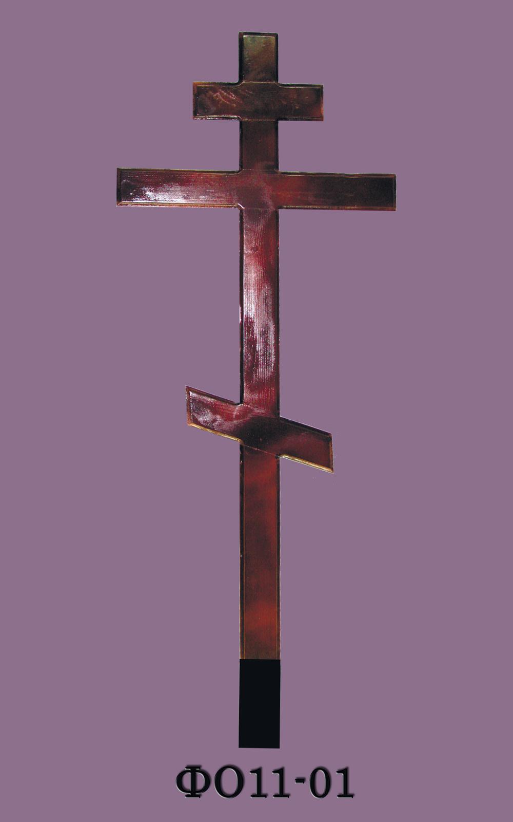 Крест на могилу (деревянный) ФО11-01